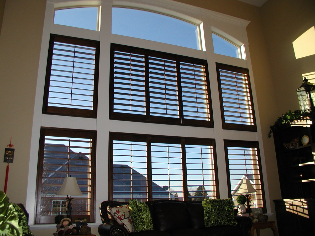 Wood shutters in Utah home