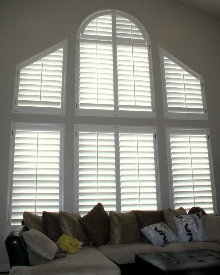 Family Room Window Shutters