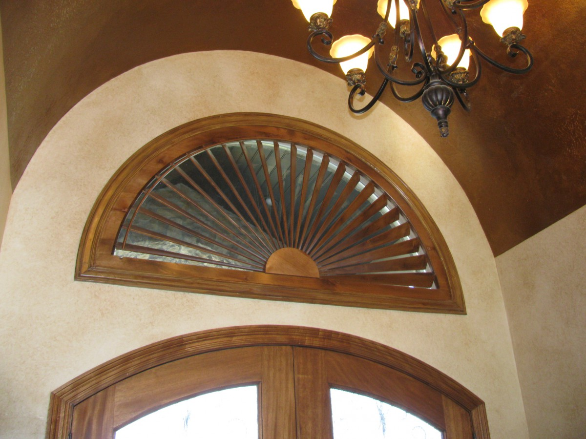 Above Door Sunburst Arch Shutters