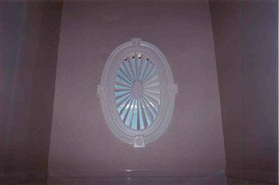 oval sunburst shutter