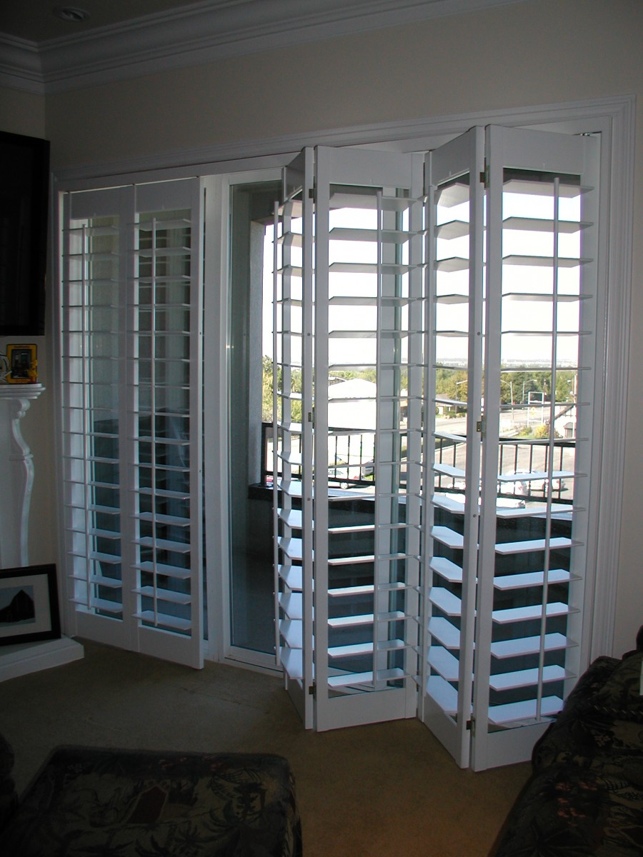 Sliding Porch Doors with Shutters