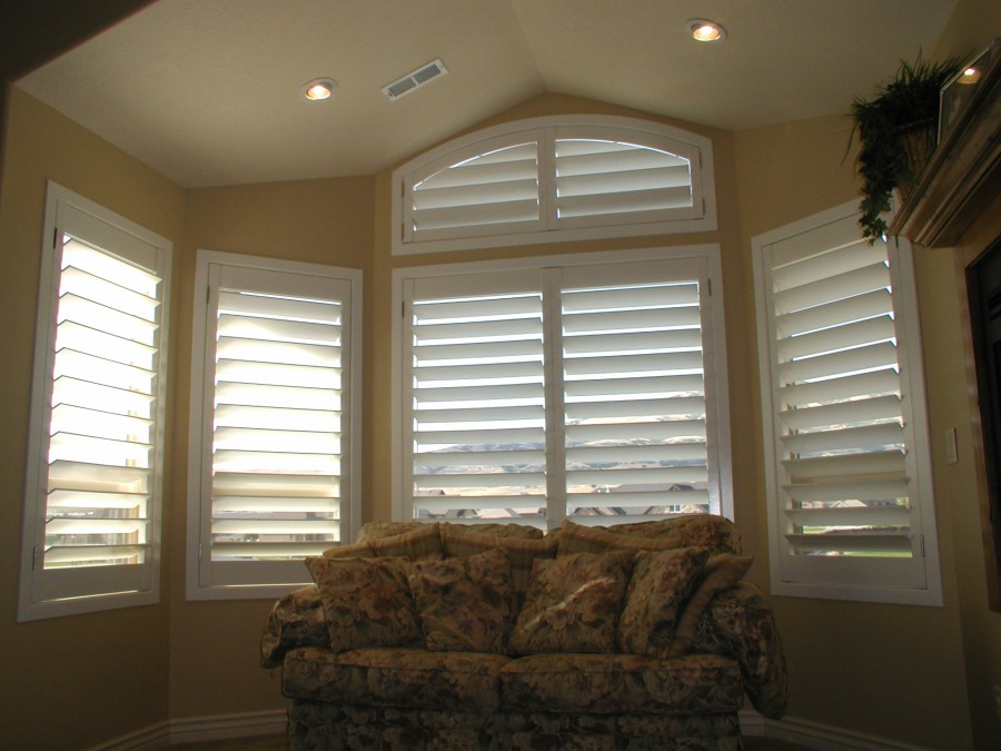 Arch Top Rodless Shutters